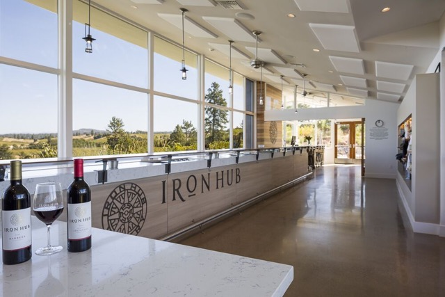 Interior of tasting room at Iron Hub