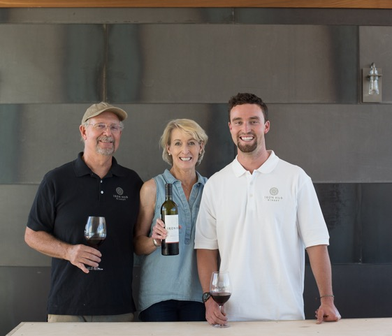 Tom Jones with Beth Jones and son Spencer