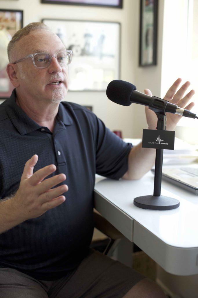 Dave Beasing in studio