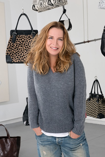 Susan Paillassou with Lucque handbags