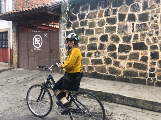 Kristen Victor on bike