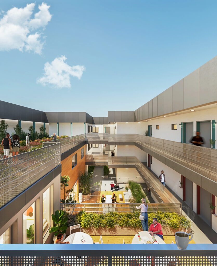 Courtyard - Aster Apartments